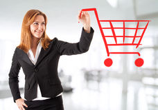Shopping chart Royalty Free Stock Images