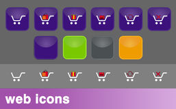 Shopping chart icons Stock Photos