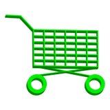 Shopping chart isolated on white background Stock Photo