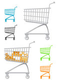 Shopping chart vector Royalty Free Stock Photos