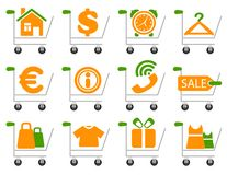 Shopping charts Stock Images