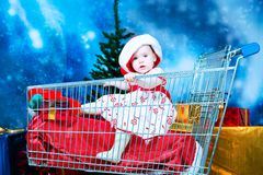 Shopping with a child Royalty Free Stock Photo