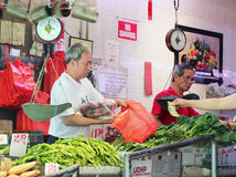 Shopping in chinatown. Stock Photo