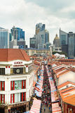 Shopping in Chinatown in Singapore Stock Photo