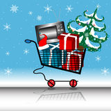 Shopping for Christmas Stock Photo
