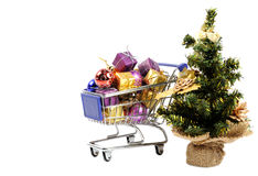 Shopping for Christmas Royalty Free Stock Photos