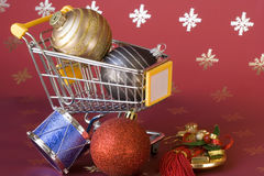 Shopping for Christmas Royalty Free Stock Images