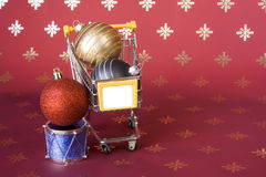 Shopping for Christmas Stock Photography