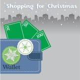 Shopping for Christmas Stock Photos