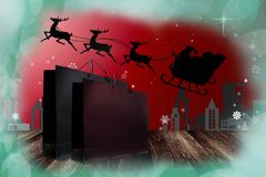 Shopping in Christmas event Royalty Free Stock Photography
