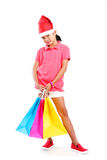 Shopping At Christmas Stock Photo