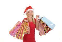 Shopping christmas girl Royalty Free Stock Photos