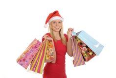 Shopping christmas girl Royalty Free Stock Photos