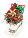 Shopping for christmas goodies Royalty Free Stock Photos