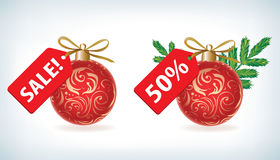 Shopping Christmas and New Year's label Royalty Free Stock Photography