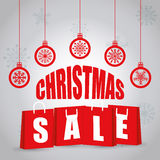 Shopping christmas offers and discounts season Stock Photography