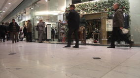 Shopping before Christmas stock footage
