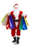 Shopping Christmas Santa Royalty Free Stock Photos