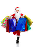 Shopping Christmas Santa Stock Photo