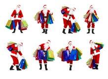 Shopping Christmas Santa Royalty Free Stock Photo