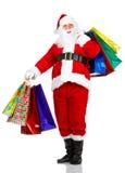 Shopping Christmas Santa Stock Photos