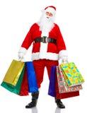 Shopping Christmas Santa Stock Photo