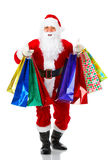 Shopping Christmas Santa Stock Images
