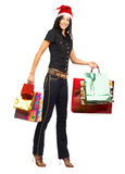Shopping Christmas woman Royalty Free Stock Image