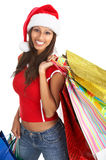 Shopping Christmas woman Stock Image