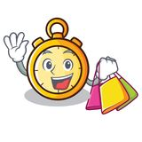 Shopping chronometer character cartoon style Stock Images