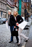 Shopping in the city Stock Photos