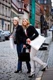Shopping in the city Stock Photos