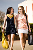 Shopping in the city Royalty Free Stock Image