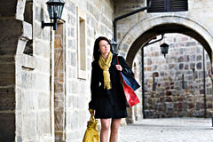 Shopping in the city Royalty Free Stock Photo