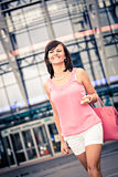 Shopping in the city Royalty Free Stock Photos