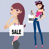 Shopping at the city. Beauty shopping at shopping mall Royalty Free Stock Images