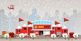 Shopping in the city (Christmas) Stock Photos