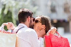 CLOSE UP OF COUPLE IN LOVE stock image