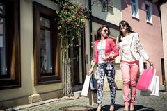 Shopping in the city Royalty Free Stock Photography