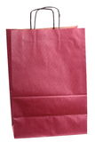Shopping claret, coloured gift bag isolated Royalty Free Stock Photography