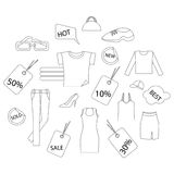 Shopping clothes Stock Photography