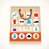 Shopping clothing bag design Stock Photo