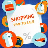 Shopping clothing template background vector illustration