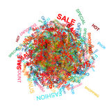 Shopping cloud for your design Royalty Free Stock Photography