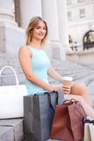 Shopping and coffee Royalty Free Stock Photo