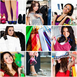 Shopping Collage Royalty Free Stock Photo