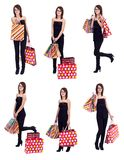 Shopping collage Royalty Free Stock Photography