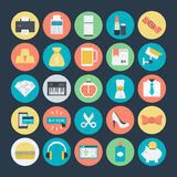 Shopping Colored Vector Icons 3 Royalty Free Stock Images