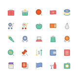 Shopping Colored Vector Icons 4 Royalty Free Stock Photos