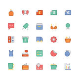 Shopping Colored Vector Icons 12 Stock Images